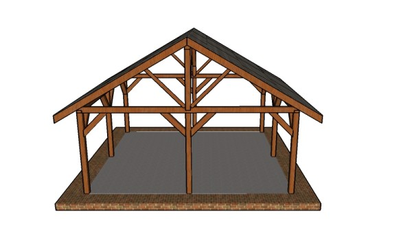 20x20 Picnic Shelter Roof Plans MyOutdoorPlans Free