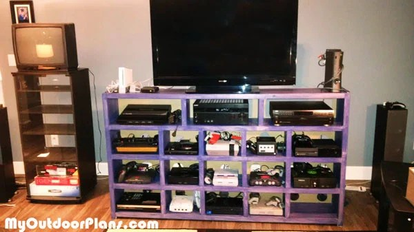 Diy Video Game Console Storage Myoutdoorplans Free