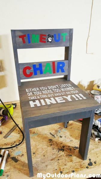 Diy Child S Time Out Chair Myoutdoorplans Free