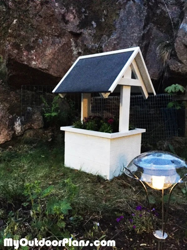 Wishing Well Planter Box MyOutdoorPlans Free Woodworking Plans And Projects DIY Shed