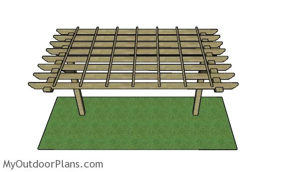 2 Post Pergola Plans Myoutdoorplans Free Woodworking
