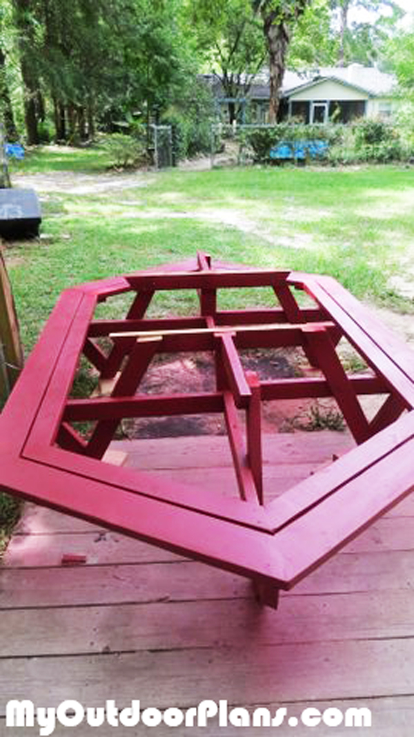 Diy Large Picnic Table Myoutdoorplans Free Woodworking