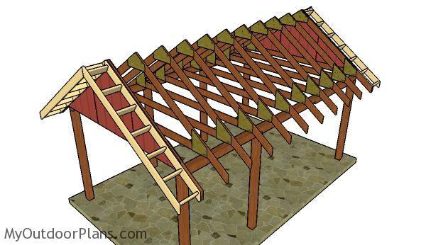 How To Build A Carport Gable Roof MyOutdoorPlans Free