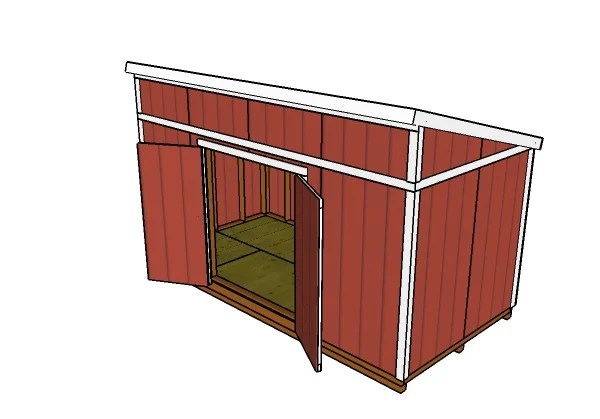 8x16 Lean To Shed Roof Plans MyOutdoorPlans Free