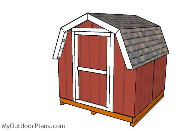 8x8 Short Barn Shed Plans Myoutdoorplans Free