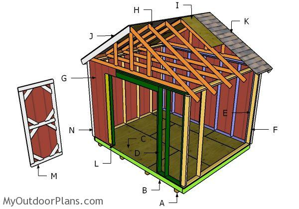 12x10 Shed Roof Plans Myoutdoorplans Free Woodworking