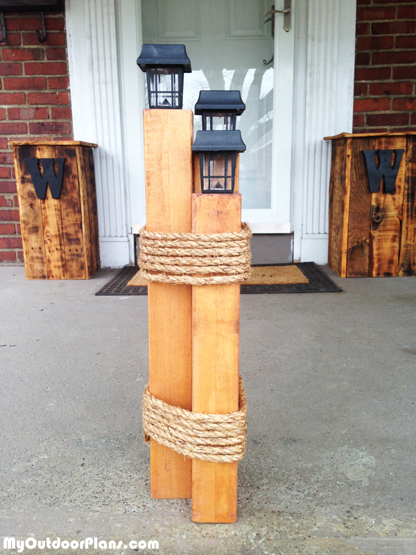 Diy Nautical Lantern Post Myoutdoorplans Free