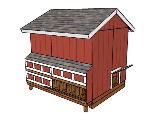 Large chicken coop plans - Back view