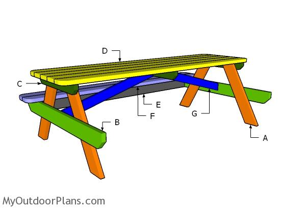 8 ft picnic table plans for 8 picnic table plans