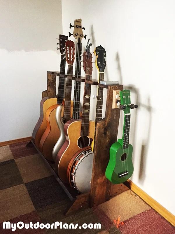 Diy Multi Guitar Wood Stand Myoutdoorplans Free
