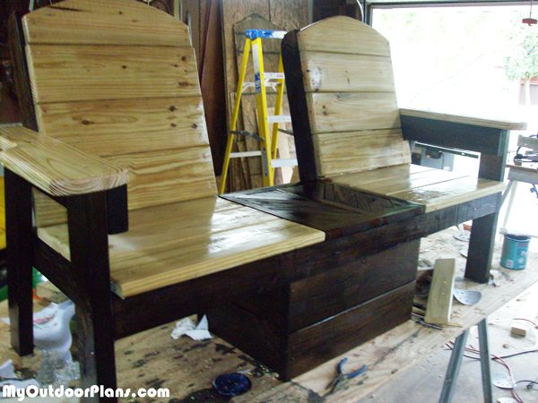 Diy Double Chair Bench With Cooler Myoutdoorplans Free