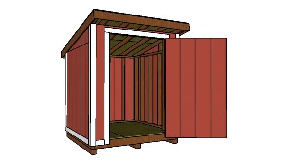 6x6 Lean To Shed Roof Plans Myoutdoorplans Free