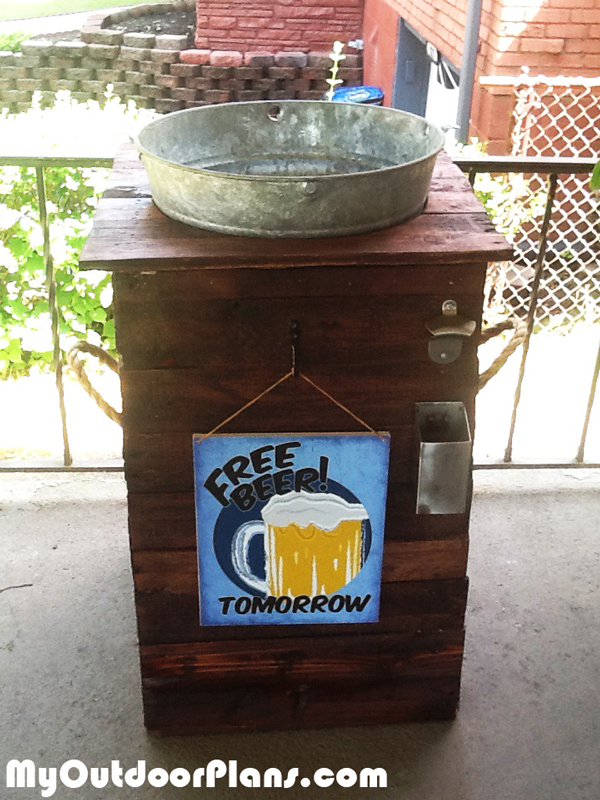 Diy Galvanized Ice Bucket Beer Stand Myoutdoorplans