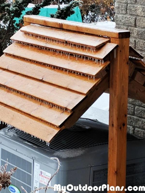 DIY Heat Pump Roof MyOutdoorPlans Free Woodworking
