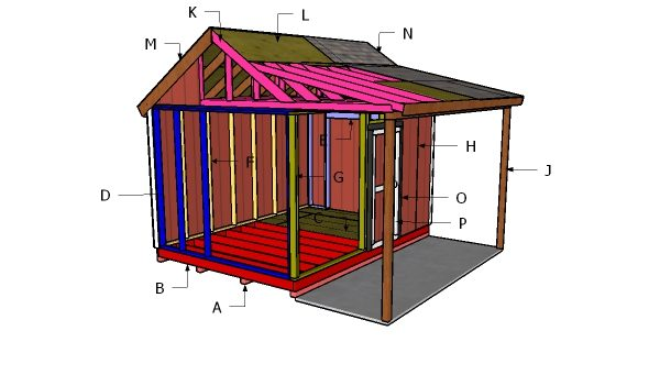 10x14 Shed With Porch Roof Plans MyOutdoorPlans Free