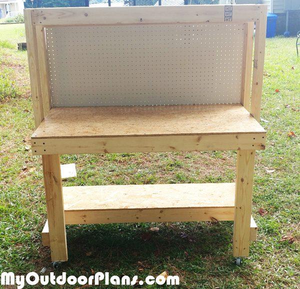Diy Workbench With Pegboard Myoutdoorplans Free