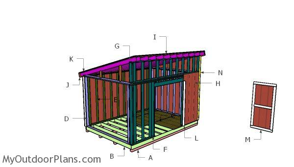 10x14 Lean To Shed Roof Plans Myoutdoorplans Free