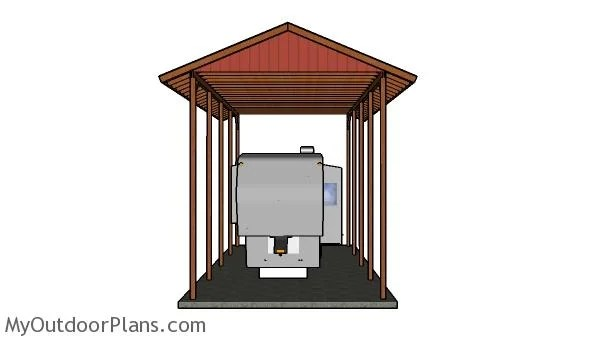 20x40 RV Carport Gable Roof Plans MyOutdoorPlans Free Woodworking Plans And Projects DIY