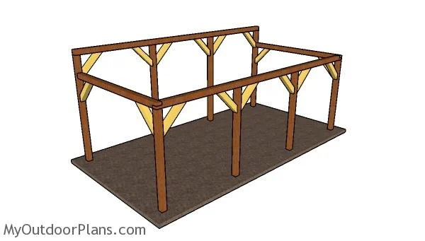 12x24 Do It Yourself Lean To Carport Plans MyOutdoorPlans Free Woodworking Plans And