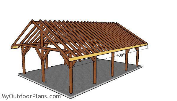 20x30 Pavilion Roof Plans Myoutdoorplans Free
