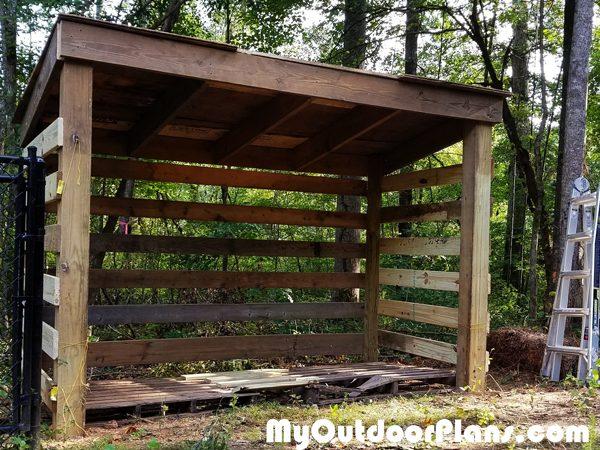 DIY Firewood Shed With Pallet Floor MyOutdoorPlans