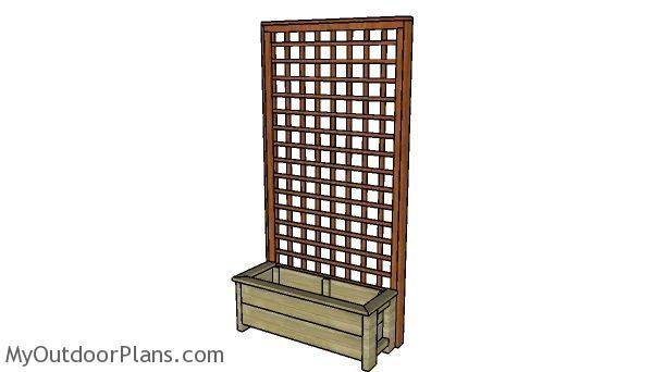 Free Planter Box With Trellis Plans Myoutdoorplans