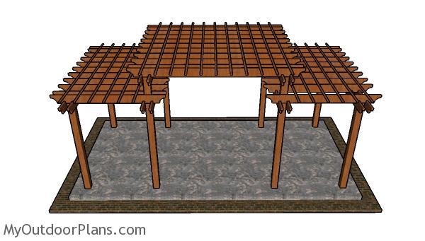 Tiered Pergola Plans Myoutdoorplans Free Woodworking