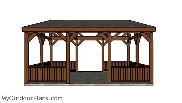 Lean To Pavilion Railings Plans Myoutdoorplans Free