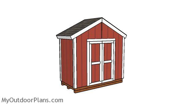 8x4 Gable Shed Plans Myoutdoorplans Free Woodworking