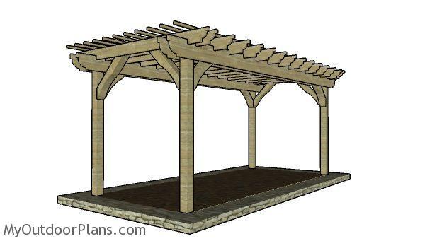 10x20 Pergola Plans Myoutdoorplans Free Woodworking