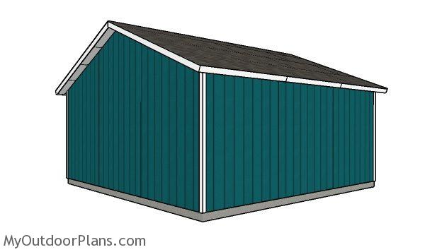 24x24 Detached Garage Roof Plans Myoutdoorplans Free