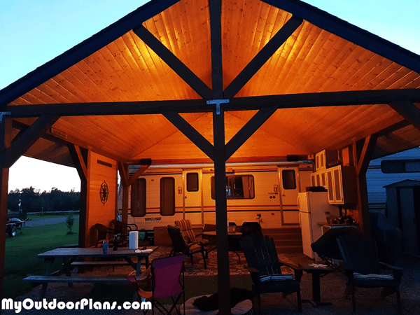 20x20 Picnic Shelter Diy Project Myoutdoorplans Free