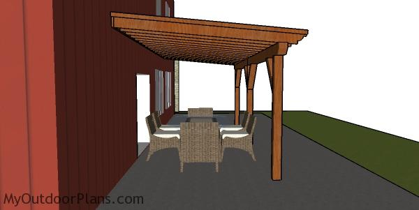 Patio Cover Plans | MyOutdoorPlans | Free Woodworking ... on My Patio Design id=91896