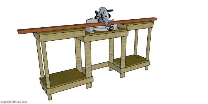 Simple Miter Station Free Diy Plans Myoutdoorplans Free Woodworking Plans And Projects Diy Shed Wooden Playhouse Pergola Bbq
