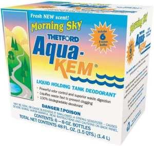 Aqua-Kem Morning Sky RV Holding Tank Treatment - best RV toilet chemicals for breaking down waste