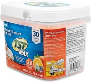 Camco TST Ultra-Concentrated Orange Citrus Scent RV Toilet Treatment Drop-Ins