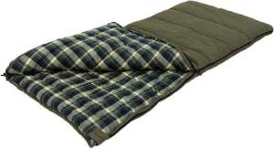 ALPS OutdoorZ Redwood -10° Cotton Flannel Lined Sleeping Bag for Winter