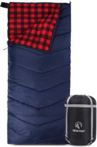 RedCamp - Best Cotton Flannel Lined Sleeping Bag for Adults