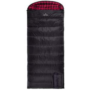 Teton Sports Celsius XXL Flannel Soft Lined Sleeping Bag for Family Camping