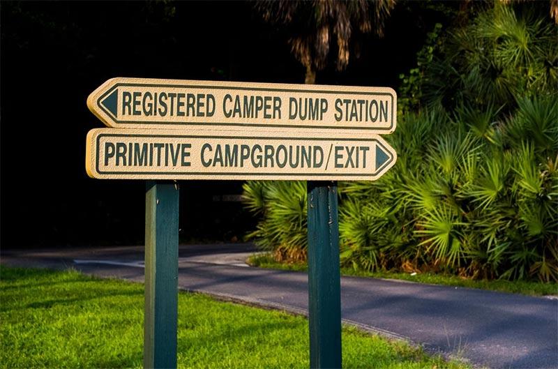 Registered Camper Dump Station