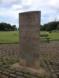 Colonel Gardiner monument near the original thorn tree