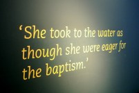 Quote of a worker at Hartland & Wolff, who was there the day of it's baptism