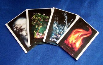 Pagan prayer cards for the elements