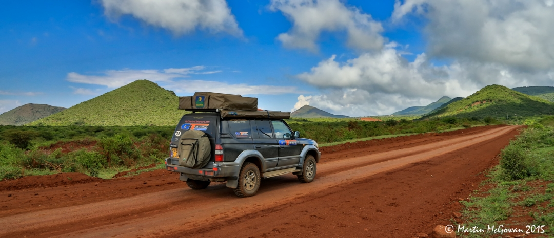 Last 35km dirt road to Marsabit
