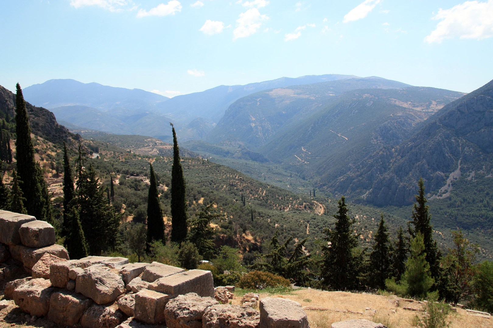 View from Ancient Delphi