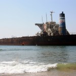 Stricken Tanker - Candolim Beach