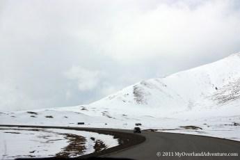 Road through the snow