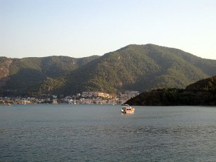 View of Fethiye harbour