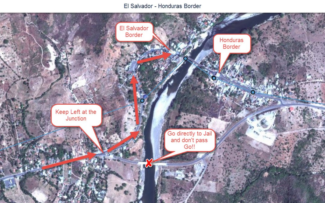 El Salvador to Honduras Border Crossing – El Amatillo