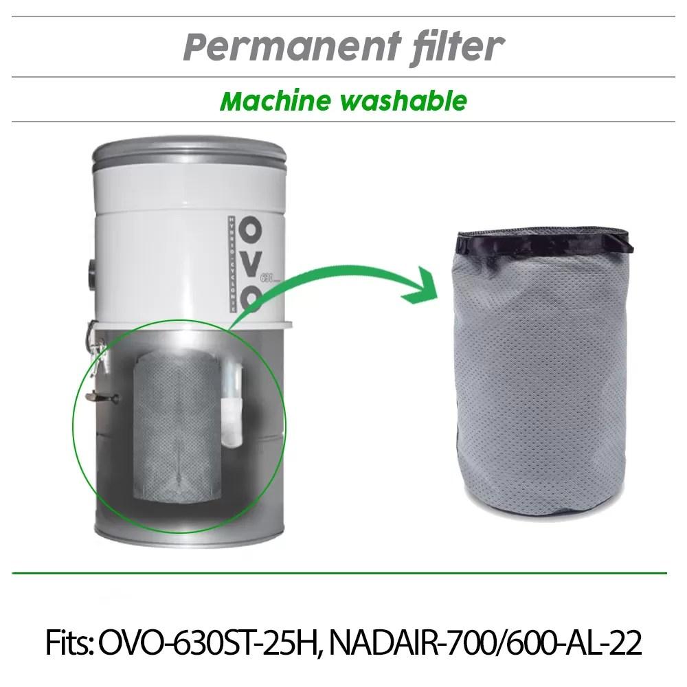Central vacuum filter 8L